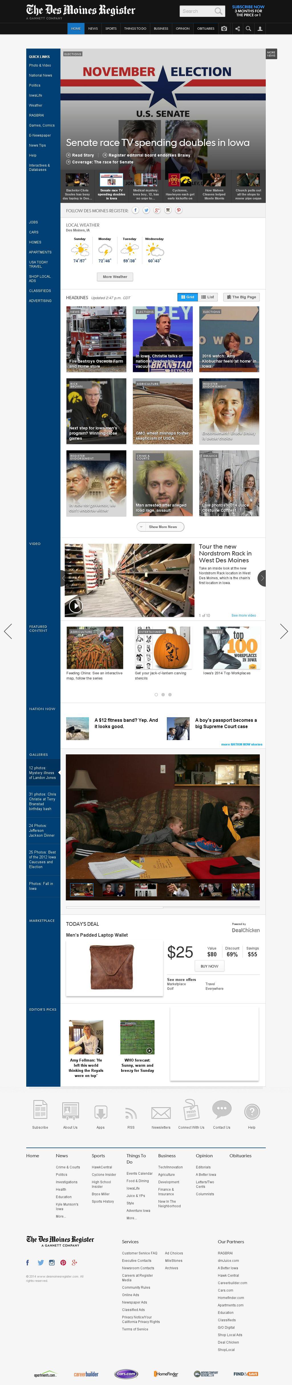 DesMoinesRegister.com at Sunday Oct. 26, 2014, 8:03 p.m. UTC
