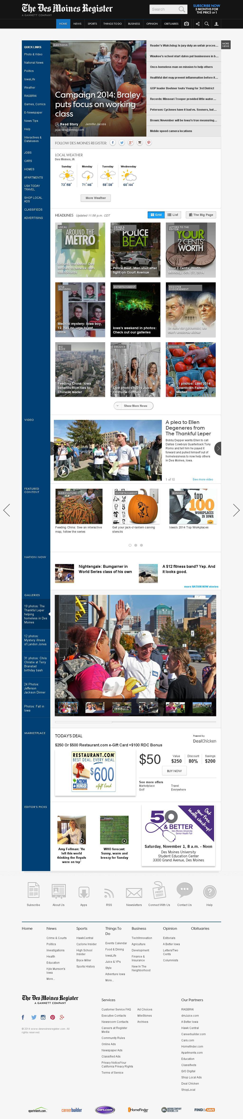 DesMoinesRegister.com at Monday Oct. 27, 2014, 5:03 a.m. UTC