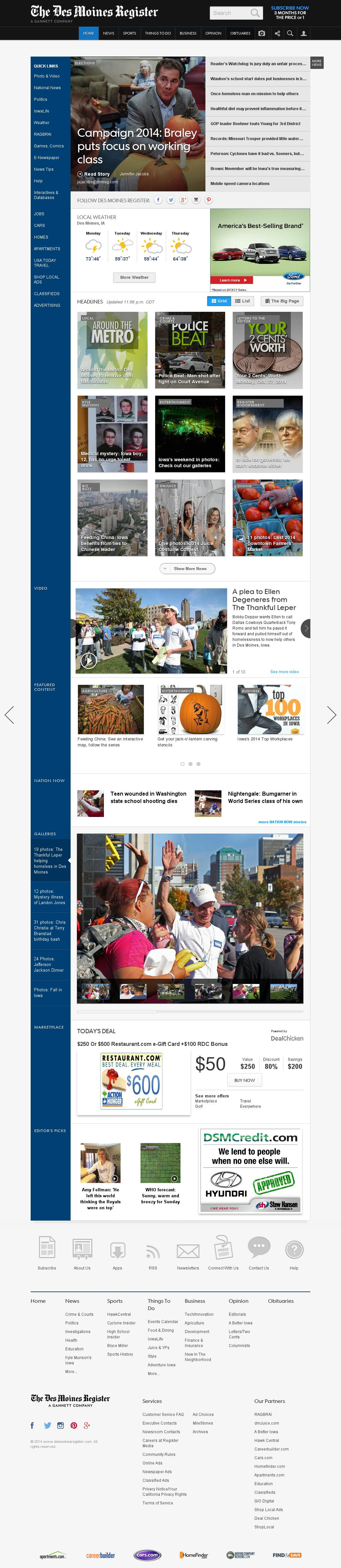 DesMoinesRegister.com at Monday Oct. 27, 2014, 9:03 a.m. UTC