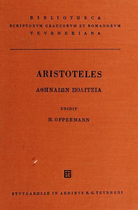Athenaion politeia by Aristotle