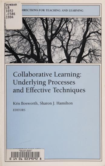 Cover of: Collaborative learning | Kris Bosworth, Sharon J. Hamilton, editors