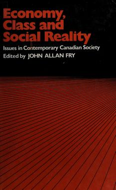 Cover of: Economy, class and social reality   edited by John Allan Fry.