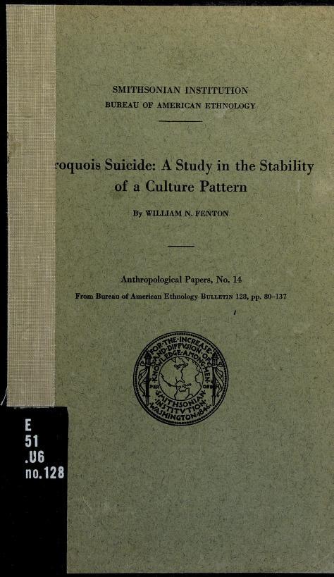 Iroquois suicide by William Nelson Fenten