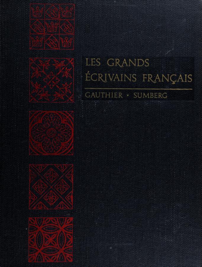 Les grands écrivains français by Joseph Delphis Gauthier