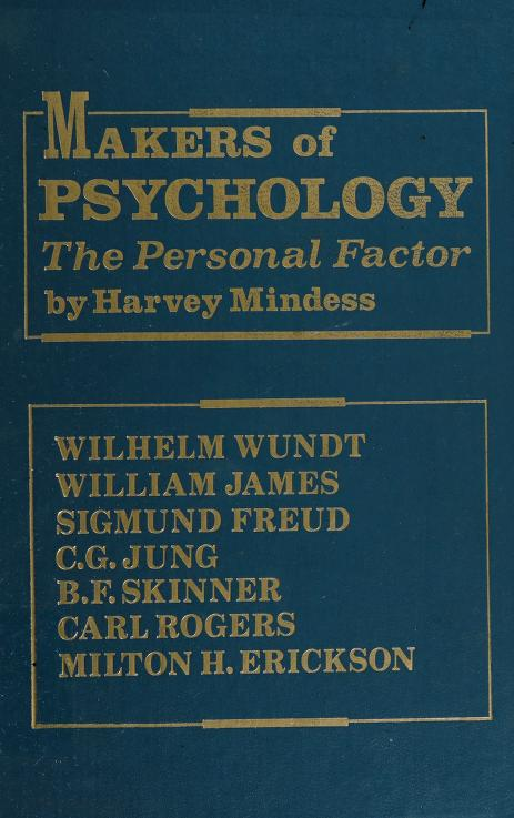 Makers of psychology by Harvey Mindess