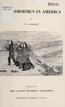 Cover of: The Norsemen in America | Tryggvi J. Oleson.