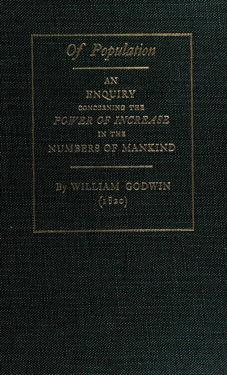 Of population by William Godwin
