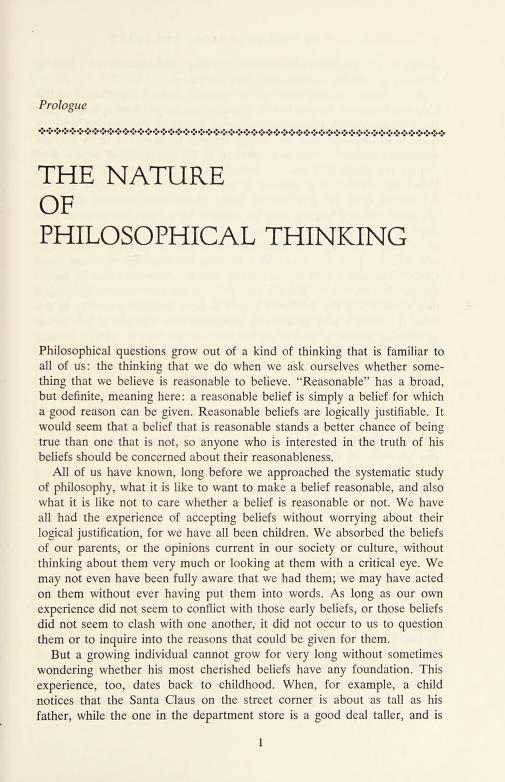 Philosophical thinking by Beardsley, Monroe C.