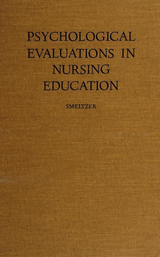 Psychological evaluations in nursing education by C. H. Smeltzer