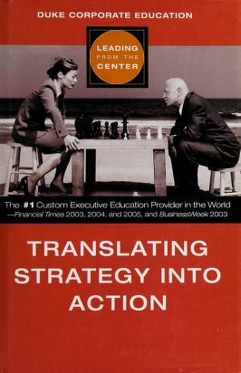 Cover of: Translating strategy into action | Duke Corporate Education.