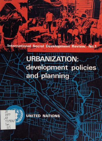 Cover of: Urbanization | United Nations. Dept. of Economic and Social Affairs.