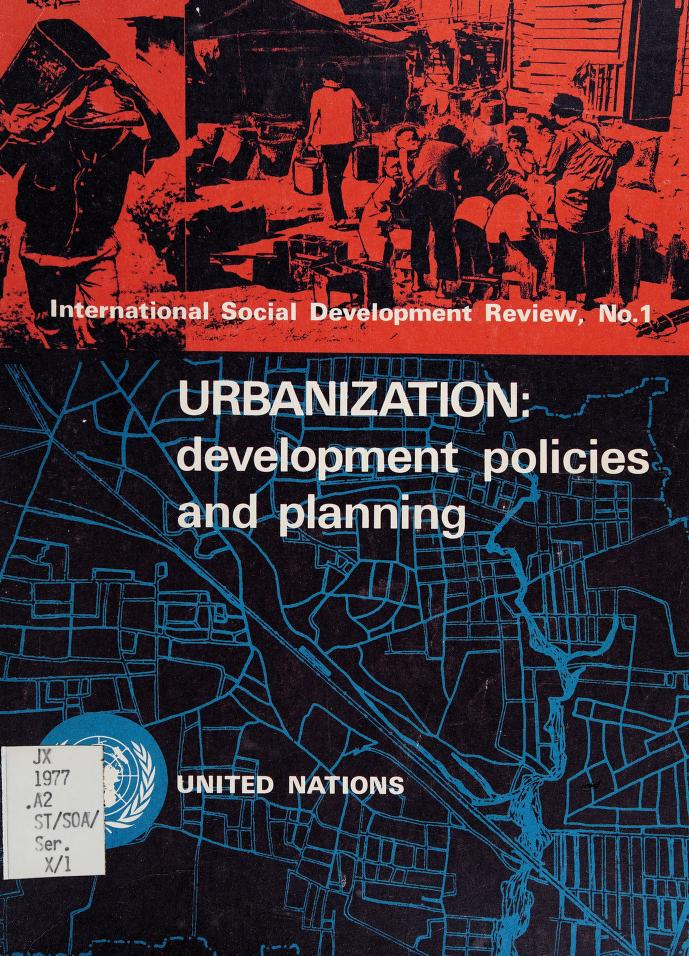 Urbanization by United Nations. Dept. of Economic and Social Affairs.